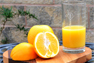 MeasureGlass with orange juice.